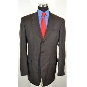 Kenneth Cole 40L Sport Coat Blazer Suit Jacket Gra